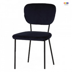 Scaun dining albastru navy din poliester si fier Cleveland LifeStyle Home Collection