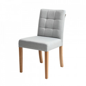 Scaun dining gri platinat din poliester si lemn Wilton Custom Form