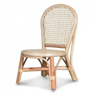 Scaun dining maro din lemn si ratan Lara Opjet Paris