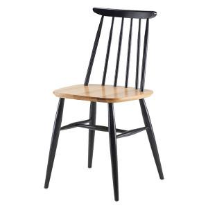 Scaun dining negru/maro din lemn Cloyd Woodman