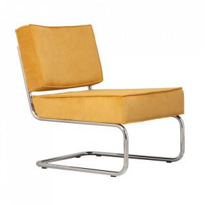 Scaun lounge galben din nailon si metal Ridge Zuiver