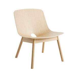 Scaun lounge maro deschis din lemn de stejar Mono Woud