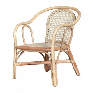 Scaun lounge maro din bambus si ratan pentru exterior Tamba Opjet Paris