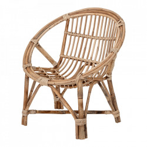 Scaun lounge maro din lemn de bambus Jubbe Bloomingville Mini