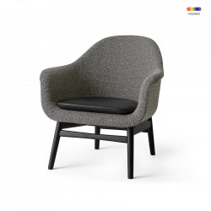 Scaun lounge negru/gri din textil si lemn Harbour Menu