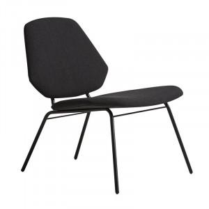 Scaun lounge negru/negru din textil si metal Lean Woud