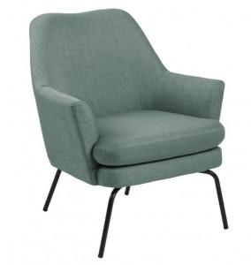 Scaun lounge oliv/negru din textil si metal Chisa Dusty Olive Black Actona Company