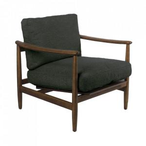 Scaun lounge verde/maro din poliester si lemn de frasin Todd Pols Potten