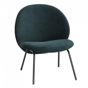 Scaun lounge verde/negru din metal Irene Hubsch