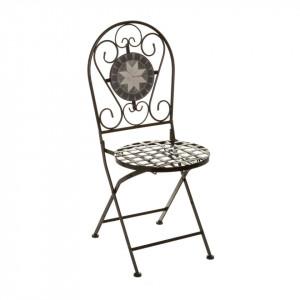 Scaun pliabil multicolor din metal si ceramica pentru exterior Poise Chair Unimasa
