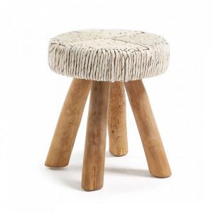 Scaunel maro din lemn Ipso La Forma