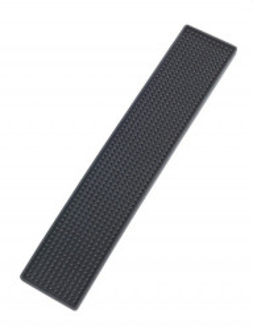 Scurgator negru din cauciuc pentru pahare 8x42 cm Draining Mat Wenko