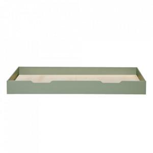 Sertar pat verde din lemn de pin Nikki Pine Green Woood