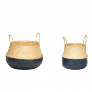 Set 2 cosuri din bambus maro/negru Steve Hubsch