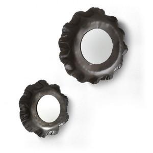 Set 2 oglinzi rotunde din zinc Karlo La Forma