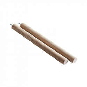 Set 2 picioare pentru etajera maro din lemn de stejar Elevate Bottom E Woud