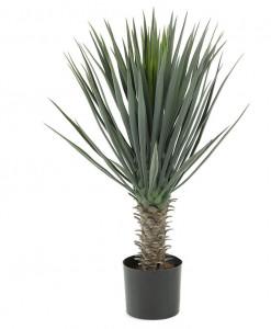 Set 2 plante artificiale in ghiveci din plastic 85 cm Flower Yucca La Forma
