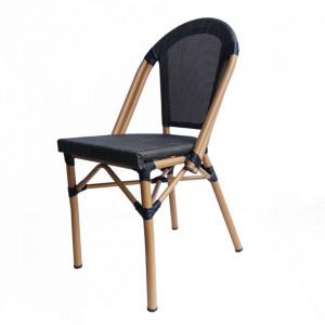 Set 2 scaune dining bej din textil si aluminiu Sandra Sit Moebel