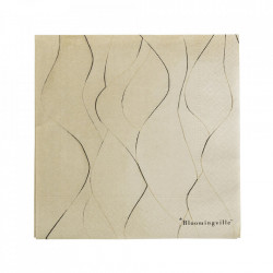 Set 20 servetele maro din hartie 33x33 cm Yora Bloomingville