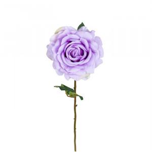 Set 24 flori artificiale mov/verzi din plastic si hartie 57 cm Rose Lilac Richmond Interiors