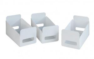 Set 3 cosuri albe din polipropilena Household Wenko