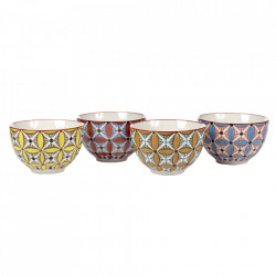 Set 4 boluri multicolore din ceramica 300 ml Hippy Pols Potten