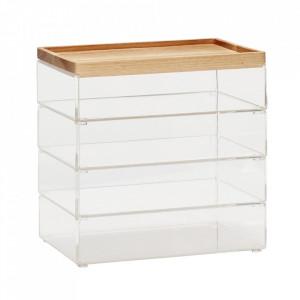 Set 4 cutii din plastic acrilic Ramos Hubsch
