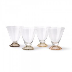 Set 4 pahare multicolore din sticla 200 ml Cocktail Glass HK Living