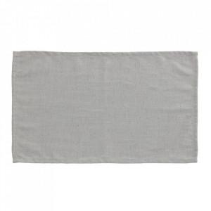 Set 4 protectii masa dreptunghiulare gri din textil 30x50 cm Samay La Forma