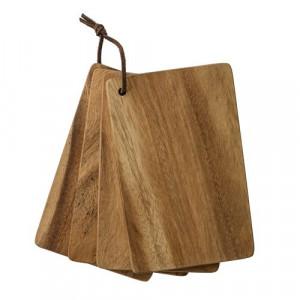 Set 4 tocatoare dreptunghiulare din lemn de salcam Bloomingville