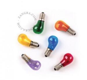 Set 6 becuri cu filament LED 1W Alana Multicolor Zangra