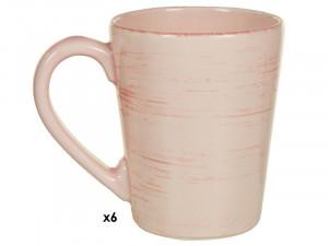 Set 6 cani roz din ceramica 250 ml Mare Pink Santiago Pons