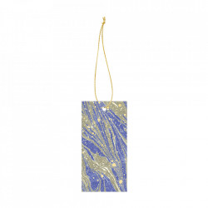 Set 6 etichete din carton Marbling Bright Blue Ferm Living