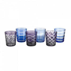 Set 6 pahare albastre din sticla Cobalt Mix Pols Potten