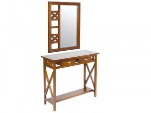 Set consola din lemn si oglinda Colonial Santiago Pons