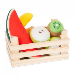 Set de joaca 8 piese din lemn si fetru Fruits Small Foot