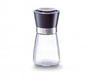 Solnita/pipernita transparenta/neagra din sticla si plastic 160 ml Saltpepper Zeller