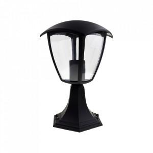 Stalp de iluminat exterior negru din aluminiu 29 cm Fox Gespa Milagro Lighting