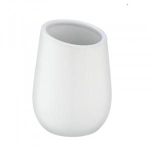 Suport alb din ceramica pentru periuta dinti 8x11 cm Badi Wenko