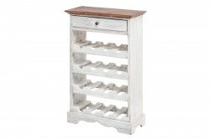 Suport alb din lemn pentru sticle de vin Fleur Invicta Interior