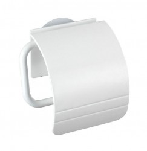 Suport alb din polipropilena pentru hartie igienica Static-Loc Osimo White Wenko