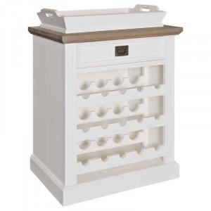 Suport alb pentru sticle din lemn si MDF Westwood Richmond Interiors