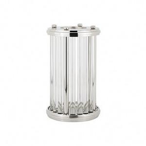 Suport argintiu din aluminiu si sticla pentru lumanare 34 cm Emeray Richmond Interiors