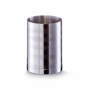 Suport argintiu din inox 7x10 cm pentru periuta dinti Timeless Design Cup Zeller