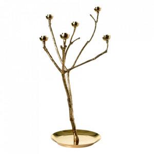 Suport auriu din metal pentru lumanari 65 cm Twiggy L Pols Potten