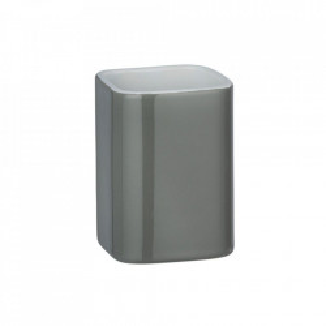 Suport gri/alb din ceramica pentru periuta dinti 6,5x9 cm Elmo Wenko