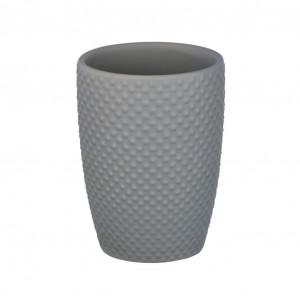Suport gri din ceramica pentru periuta dinti 8x11 cm Punto Wenko