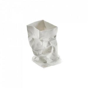 Suport lumanare alb din portelan 19 cm Paperbag Serax
