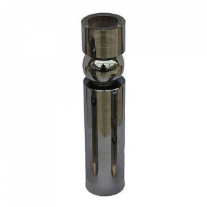Suport lumanare argintiu din sticla 21 cm Facanda Santiago Pons