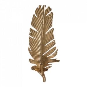 Suport lumanare auriu din zinc 65 cm Hamina Ixia